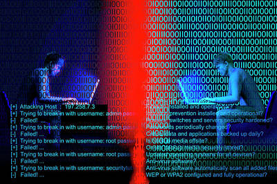 Cyberspace Photograph - Firewall  by Carol & Mike Werner