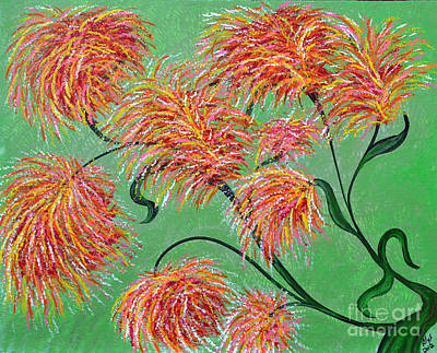 Art Print featuring the painting Fireworks by Alys Caviness-Gober