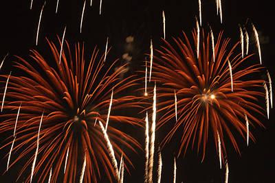 Sutton Photograph - Fireworks At The Albuquerque Hot Air by William Sutton