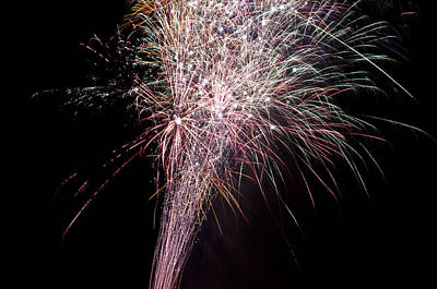 Art Print featuring the photograph Fireworks by David Isaacson