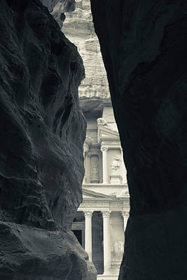 Jordan Photograph - First Glimpse Of The Red Sandstone by Panoramic Images