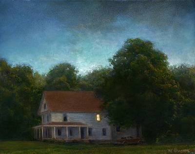 Print featuring the painting First Light by Wayne Daniels
