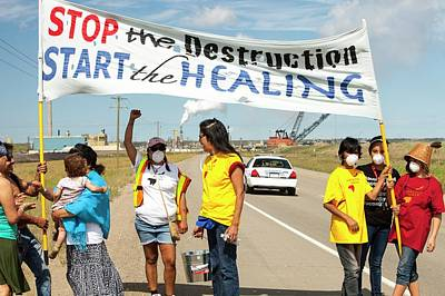 Destruction Photograph - First Nation Protest The Tar Sands by Ashley Cooper