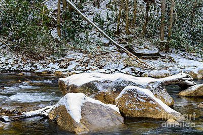 First Snow Cranberry River Art Print by Thomas R Fletcher