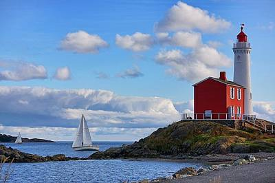 Photograph - Fisgard Lighthouse by Keith Boone