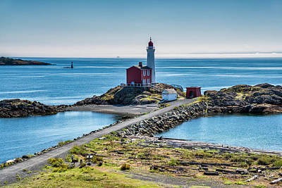 Photograph - Fisgard Lighthouse, Victoria, Vancouver by Witold Skrypczak