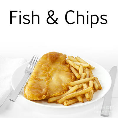 Fish And Chips Art Print by Colin and Linda McKie