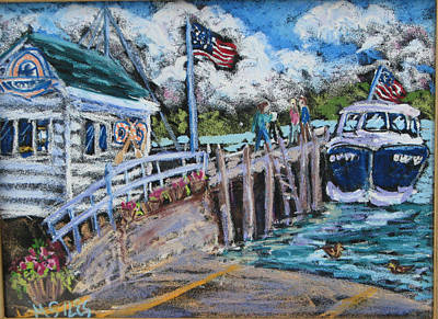 Painting - Fish Creek Boat Launch by Madonna Siles