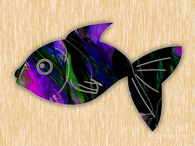 Fish Mixed Media - Fish Painting by Marvin Blaine