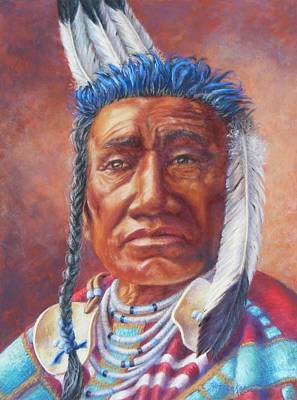 Painting - Fish Shows Native Am. Indian by Denise Horne-Kaplan