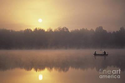 Photograph - Fishermen On Small Lake by Jim Corwin