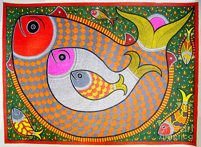 Painting - Fishes by Neeraj kumar Jha