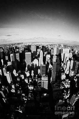 Fisheye View North Towards Central Park New York City Usa Art Print