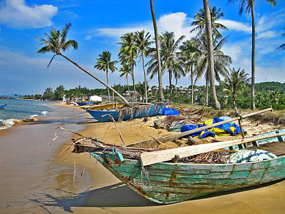 Ridgeback Digital Art - Fishing Boat. Phu Quoc. Vietnam. by Andy Za