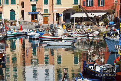 fishing boats in Camogli  Art Print