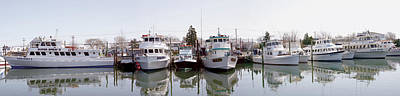 Photograph - Freeport Fishing Fleet Panorama by Bob Slitzan