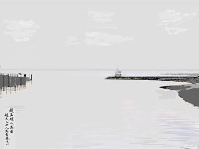 Caligraphy Photograph - Fishing Hut by Anton Kuskin