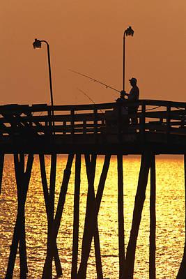 Fishing Pier At Rodanthe, North Art Print