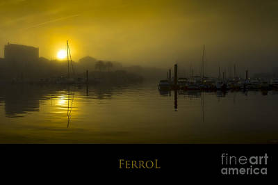 Photograph - Fishing Port Of Ferrol In Fog Galicia Spain by Pablo Avanzini
