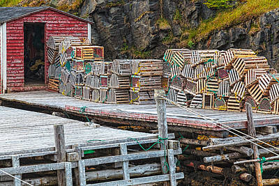 Photograph - Fishing Shack And Lobster Traps by Perla Copernik
