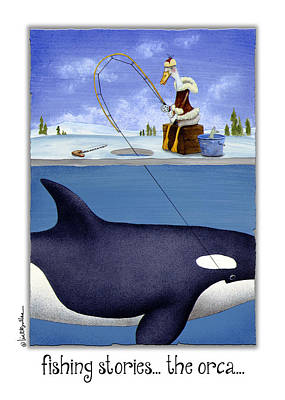 Ice Fishing Painting - Fishing Stories ... The Orca ... by Will Bullas