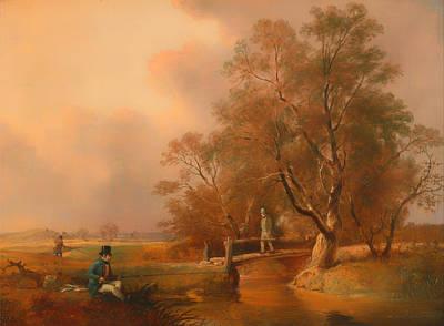 Beautiful Creek Painting - Fishing by Mountain Dreams