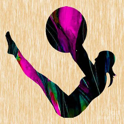 Fitness Ball Art Print by Marvin Blaine