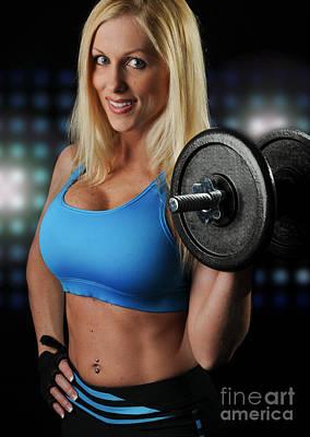 Fitness Model Art Print by Jt PhotoDesign