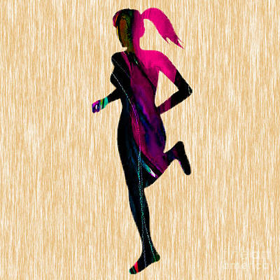 Inspirational Mixed Media - Fitness Runner by Marvin Blaine