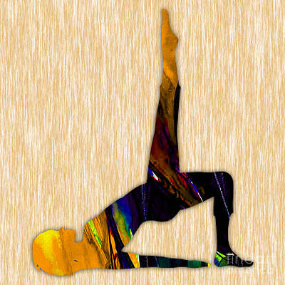 Fit Mixed Media - Fitness Yoga by Marvin Blaine