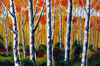 Five Birches Art Print