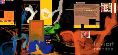 Inner Self Digital Art - Fixing Space 1h by David Baruch Wolk