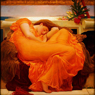 Portraits Royalty-Free and Rights-Managed Images - Flaming June by Frederick Leighton