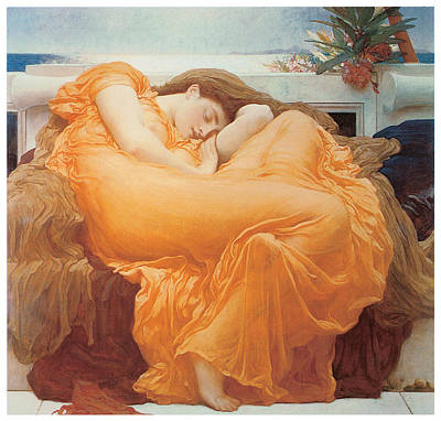 Flaming June Painting - Flaming June by Lord Frederick Leighton