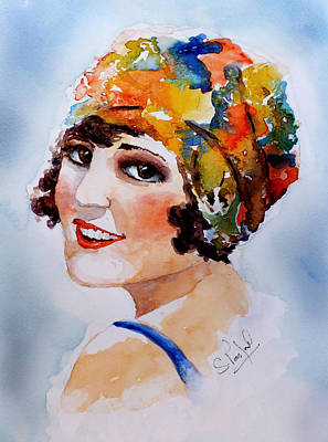 Painting - Flappers Girl by Steven Ponsford