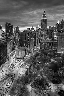 Blue Buildings Photograph - Flatiron District Birds Eye View by Susan Candelario