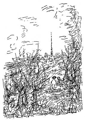 Gustave Flaubert Wall Art - Drawing - Flaubert 'madame Bovary by Granger