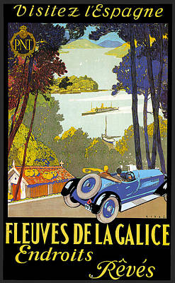 Photograph - Fleuves De La Galice Automobile by Vintage Automobile Ads and Posters