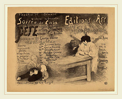 Brown Swiss Drawing - Félix Vallotton, Père, Swiss, 1865-1925 by Litz Collection