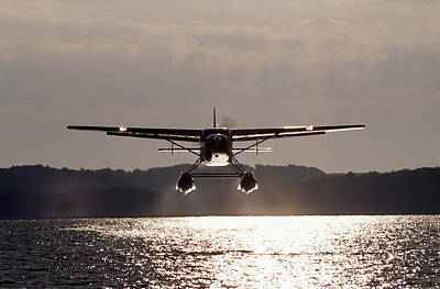 Float Plane Takes Off. Art Print by Paul Chauncey