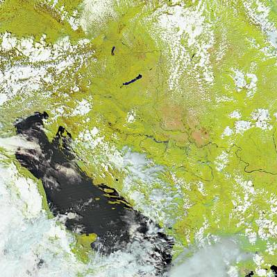 Flooding In The Balkans Print by Nasa Earth Observatory