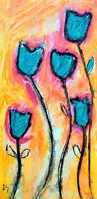 Floral Atardecer Art Print