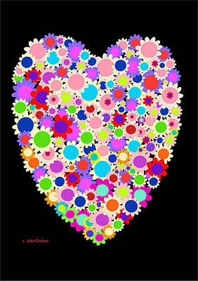 Floral Heart Valentine Art Print