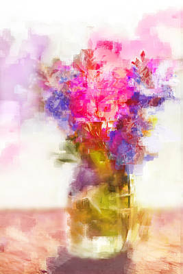 Art Print featuring the painting Floral Still Life by Linde Townsend