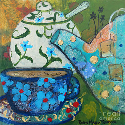 Painting - Floral Tea by Robin Maria Pedrero