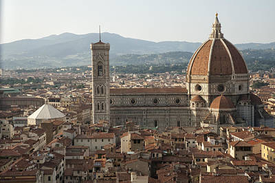 Florence Cathedral And Brunelleschi's Dome Print by Melany Sarafis