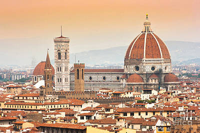 Florence Cathedral At Sunset Art Print