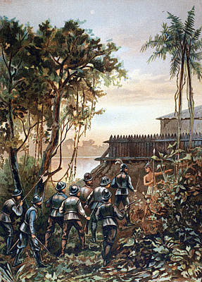 Painting - Florida Fort Caroline by Granger