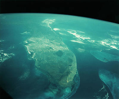 Florida State Wall Art - Photograph - Florida From Space by Nasa/science Photo Library
