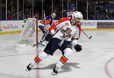 Photograph - Florida Panthers V New York Islanders by Bruce Bennett